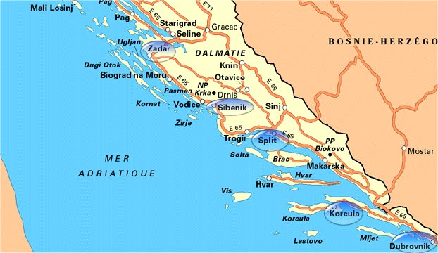 Voyages Pierre Delacroix   Croatie : Guerre, paix et beauté
